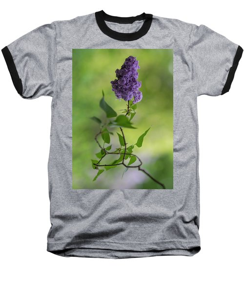 Dark Violet Lilac Baseball T-Shirt