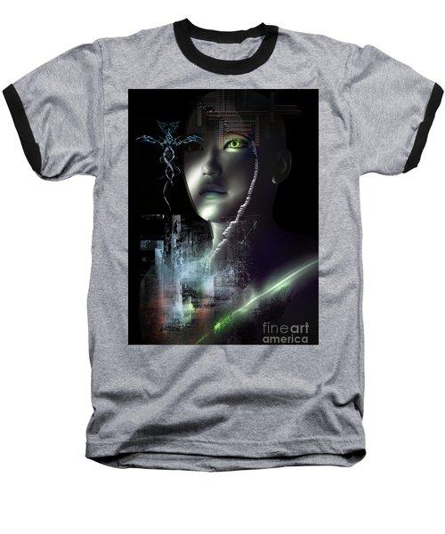 Baseball T-Shirt featuring the digital art Dark Visions by Shadowlea Is