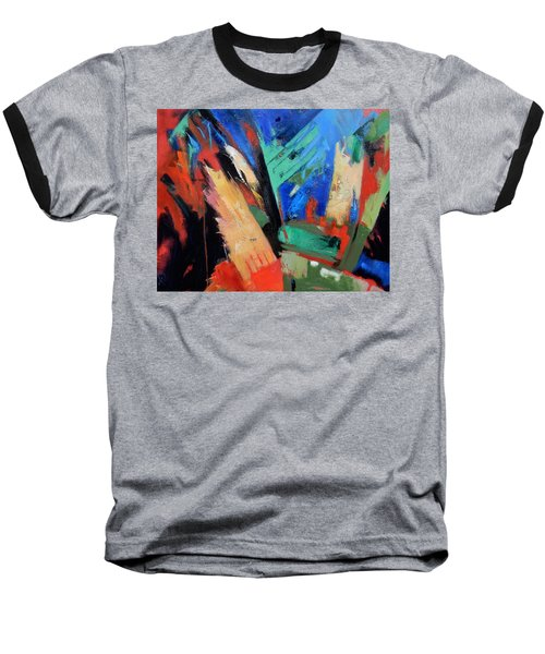 Baseball T-Shirt featuring the painting Darkness And Light by Gary Coleman