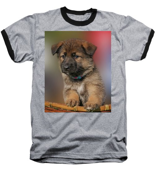 Baseball T-Shirt featuring the photograph Darling Puppy by Sandy Keeton