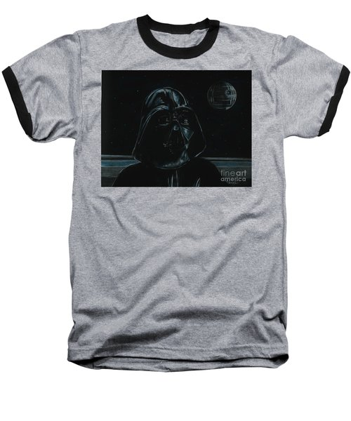 Baseball T-Shirt featuring the drawing Darth Vader Study by Meagan  Visser