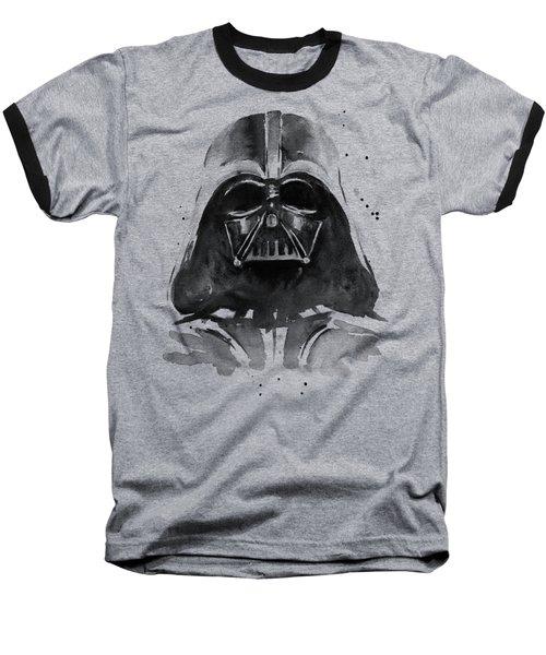 Darth Vader Watercolor Baseball T-Shirt by Olga Shvartsur