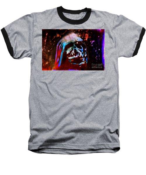 Darth Vader's Melted Helmet Baseball T-Shirt by Justin Moore