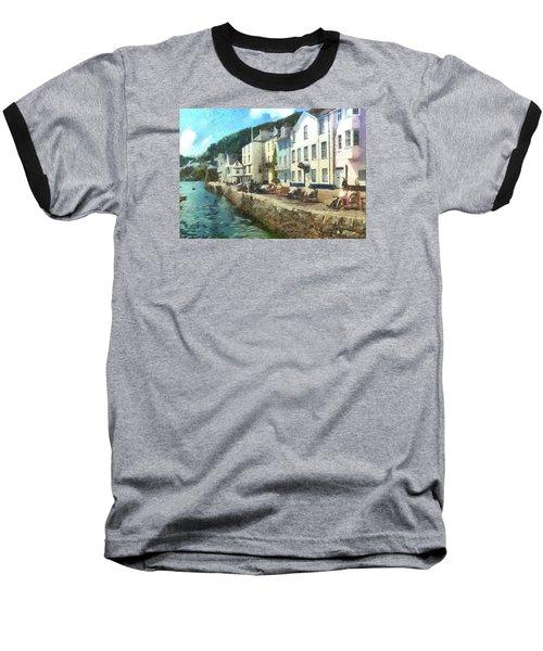 Baseball T-Shirt featuring the digital art Bayards Cove Dartmouth Devon  by Charmaine Zoe