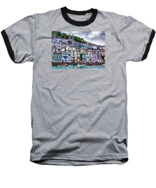 Baseball T-Shirt featuring the digital art Dartmouth Devon by Charmaine Zoe