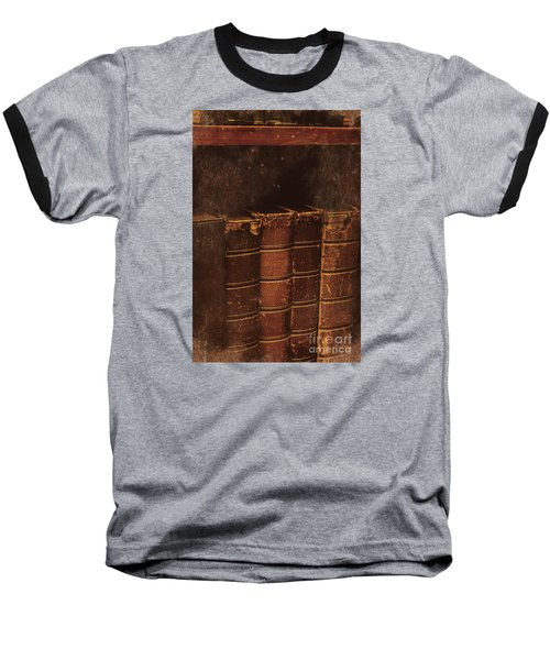 Baseball T-Shirt featuring the photograph Dated Textbooks by Jorgo Photography - Wall Art Gallery