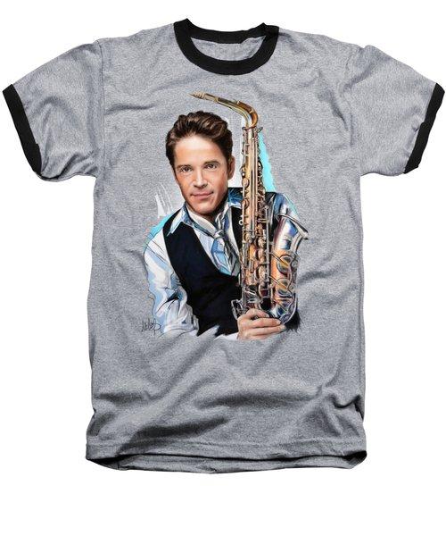 Dave Koz Baseball T-Shirt by Melanie D
