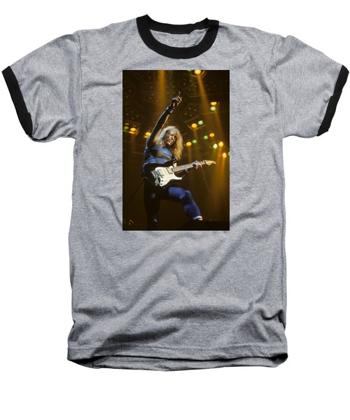 Dave Murray Of Iron Maiden Baseball T-Shirt