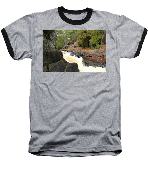 Baseball T-Shirt featuring the photograph Dave's Falls #7311 by Mark J Seefeldt