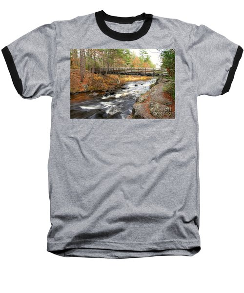 Baseball T-Shirt featuring the photograph Dave's Falls #7480 by Mark J Seefeldt