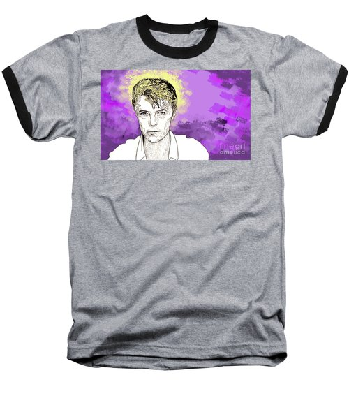 David Bowie Baseball T-Shirt by Jason Tricktop Matthews