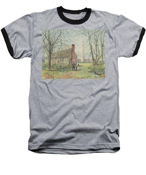 David Burns's Cottage And The Washington Monument, Washington Dc, 1892  Baseball T-Shirt