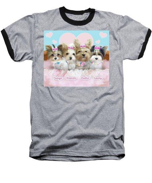 Davidson's Furbabies Baseball T-Shirt by Catia Cho