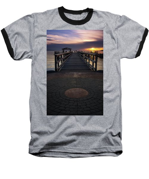 Davis Bay Pier Evening Light Baseball T-Shirt