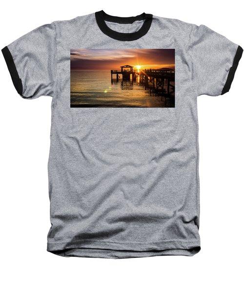 Davis Bay Pier Sunset 5 Baseball T-Shirt