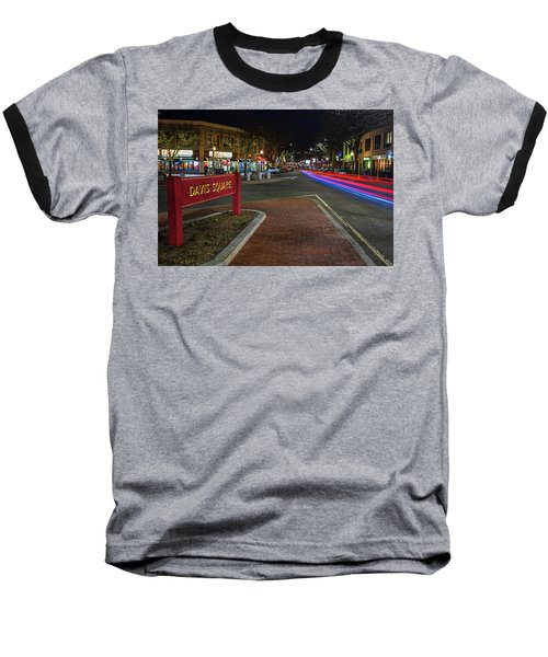 Davis Square Sign Somerville Ma Mikes Baseball T-Shirt