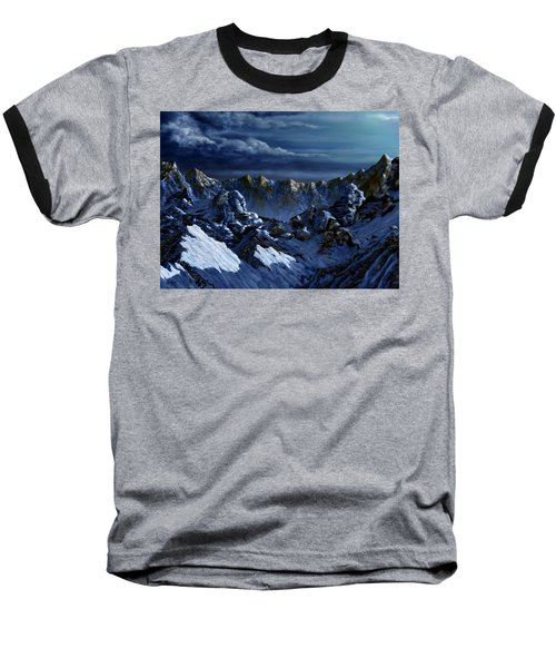 Baseball T-Shirt featuring the digital art Dawn At Eagle's Peak by Curtiss Shaffer