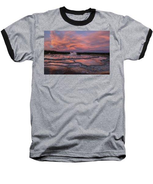 Baseball T-Shirt featuring the photograph Dawn At Great Fountain Geyser by Roman Kurywczak