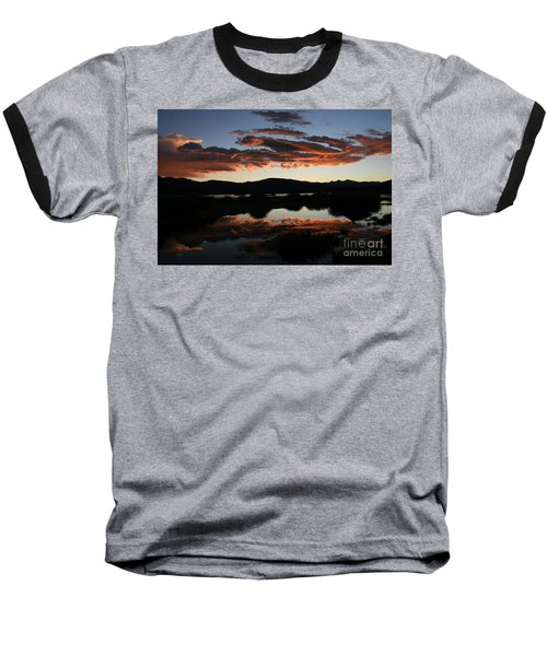 Dawn At Lake Dillon Baseball T-Shirt