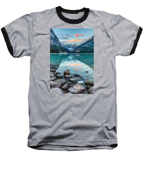 Dawn At Lake Louise Baseball T-Shirt