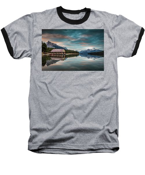 Dawn At Maligne Lake Baseball T-Shirt