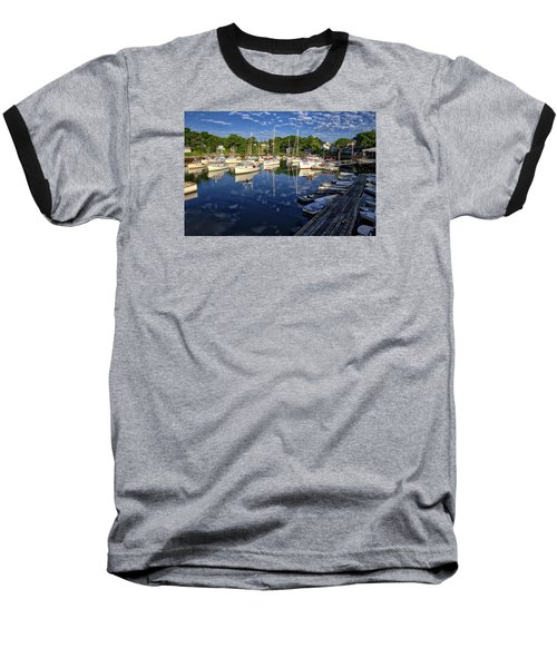 Dawn At Perkins Cove - Maine Baseball T-Shirt by Steven Ralser