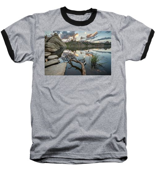 Baseball T-Shirt featuring the photograph Dawn At Sylvan Lake by Adam Romanowicz