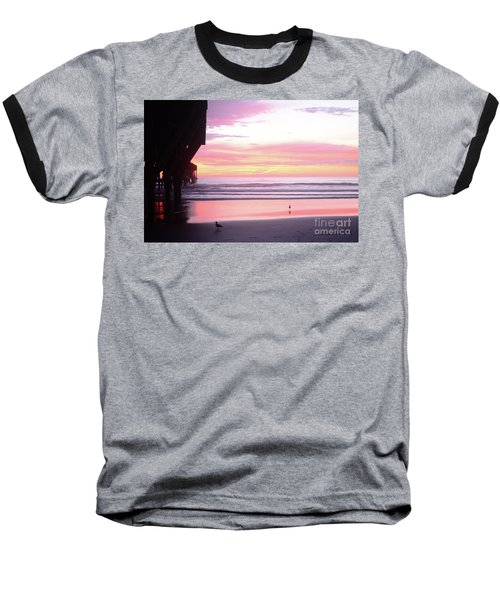 Dawn At The Beach 8-14-16 Baseball T-Shirt