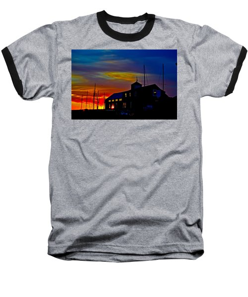 Dawn At The Boatbuilder  Baseball T-Shirt