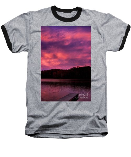 Baseball T-Shirt featuring the photograph Dawn At The Dock by Thomas R Fletcher