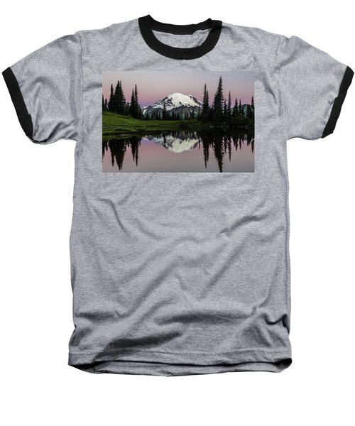 Baseball T-Shirt featuring the photograph Mount Rainier Alpenglow At Tipsoo Lake by Pierre Leclerc Photography