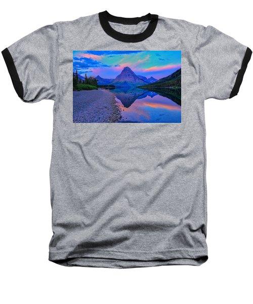 Dawn At Two Medicine Lake Baseball T-Shirt