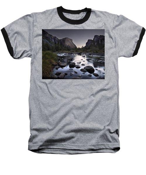 Dawn At Yosemite Gate Baseball T-Shirt
