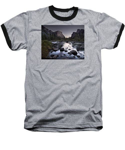 Dawn At Yosemite Gate Baseball T-Shirt