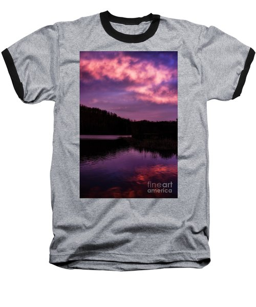 Baseball T-Shirt featuring the photograph Dawn Big Ditch Wildlife Management Area by Thomas R Fletcher