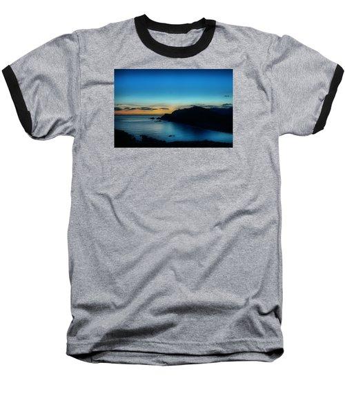 Dawn Blue In Mediterranean Island Of Minorca By Pedro Cardona Baseball T-Shirt by Pedro Cardona