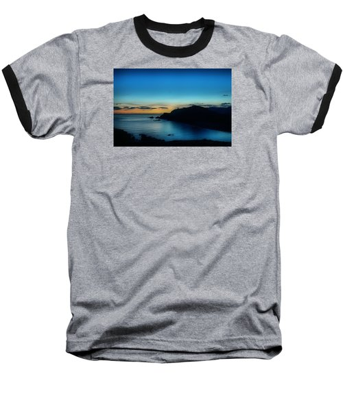 Dawn Blue In Mediterranean Island Of Minorca By Pedro Cardona Baseball T-Shirt