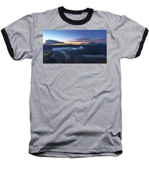 Dawn Breaking Scene Of Mt Bromo Baseball T-Shirt
