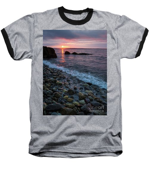 Dawn, Camden, Maine  -18868-18869 Baseball T-Shirt by John Bald