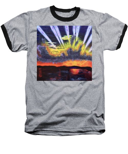 Dawn Baseball T-Shirt by Donald J Ryker III