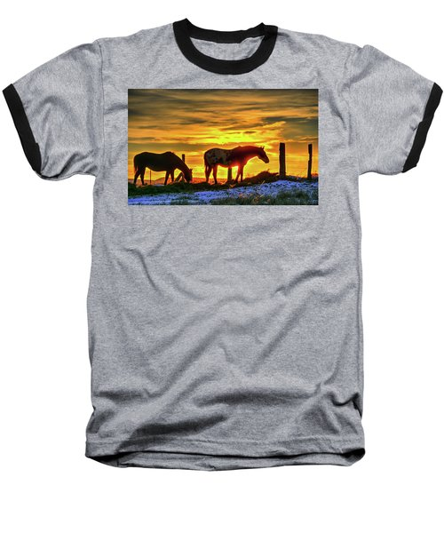 Dawn Horses Baseball T-Shirt