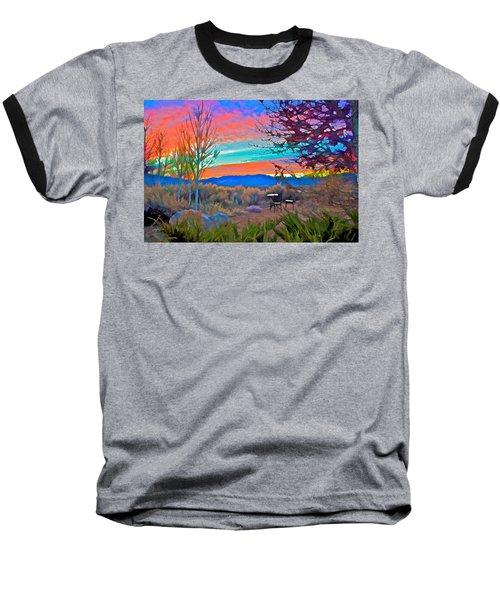 Dawn In El Prado  Baseball T-Shirt