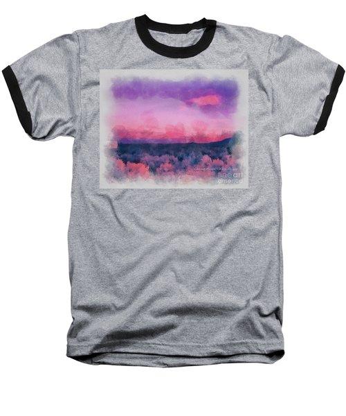 Dawn In Taos In Aquarelle Baseball T-Shirt