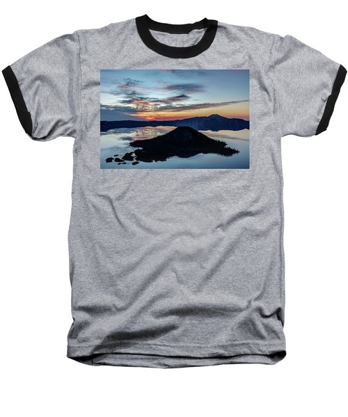 Baseball T-Shirt featuring the photograph Dawn Inside The Crater by Pierre Leclerc Photography