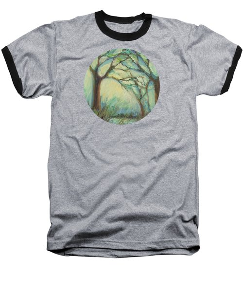 Baseball T-Shirt featuring the painting Dawn by Mary Wolf
