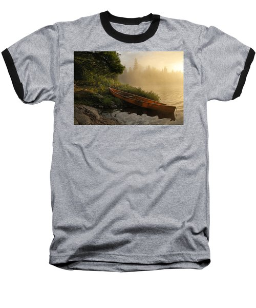 Dawn On Boot Lake Baseball T-Shirt