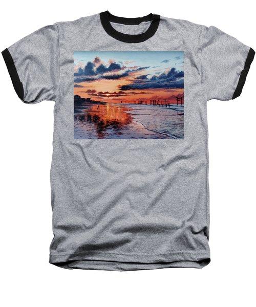 Dawn On Crystal Beach Baseball T-Shirt
