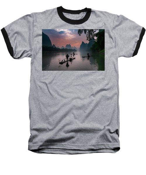 Waiting For Sunrise On Lee River. Baseball T-Shirt
