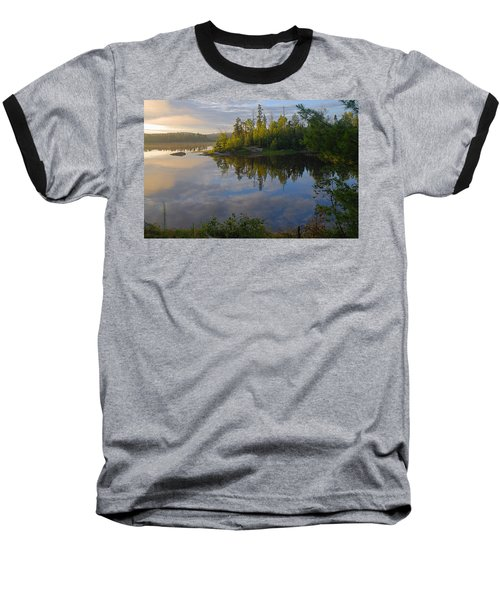 Dawn On The Basswood River Baseball T-Shirt