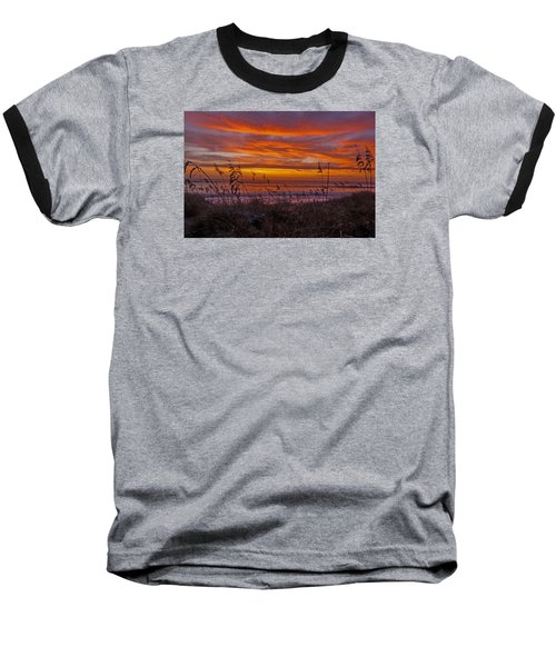 Dawn On The Dunes Baseball T-Shirt by John Harding